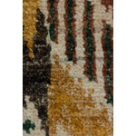 Image of New Ikat Hand Knotted Area Rug - 4' x 6'3""