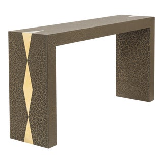 The Crackle Console Table by Talisman Bespoke (Bronze and Gold)