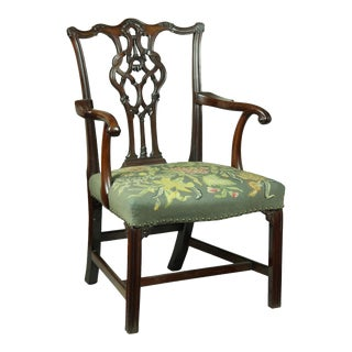 Chippendale Armchair with Elaborate Splat & Icicle Carving
