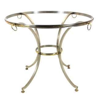 Brass and Brush Steel Center Table