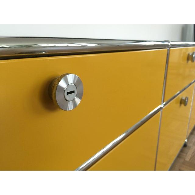 Golden Yellow USM Haller Credenza - Image 3 of 6
