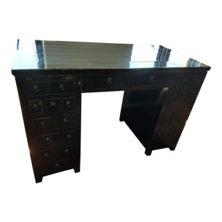 Antique 19th Century Chinese Black Lacquer Desk