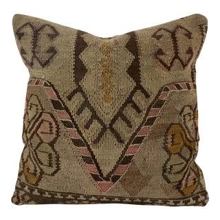 Vintage Green Brown Kilim Pillow