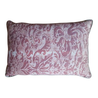 Fortuny Red Damask Pillow