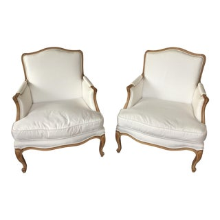 Vintage French 20th Century Jansen Arm Chairs - A Pair