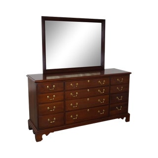 Link Taylor Solid Mahogany Chippendale Dresser W/ Mirror