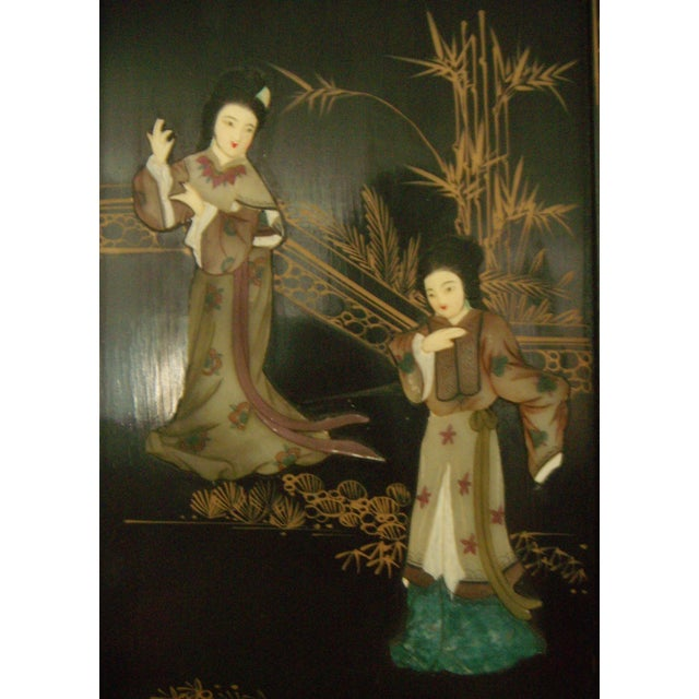 """Courtesans in the Garden"" Wall Hangings (Four) - Image 6 of 8"