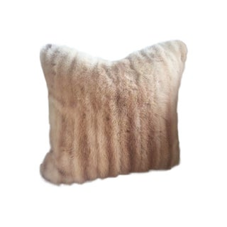 Vintage Blond Mink Pillow