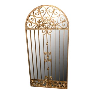Gilt Finished Garden Gate Wall Mirror