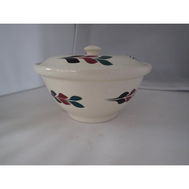 Vintage Hand Painted Lidded Bowl - Image 4 of 7