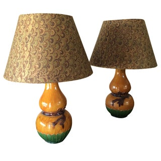 Antique Chinese Vase Lamps - a Pair