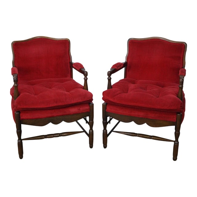 French Country Fauteuils Arm Chairs - A Pair - Image 1 of 11