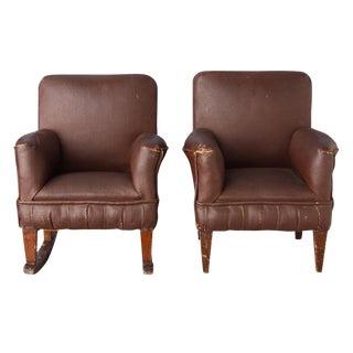 Miniature Salesman Sample Chairs Circa 1930 - A Pair