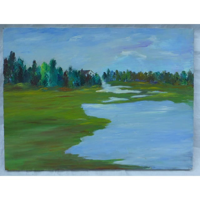 H.L. Musgrave MCM Painting of Flowing River - Image 2 of 6