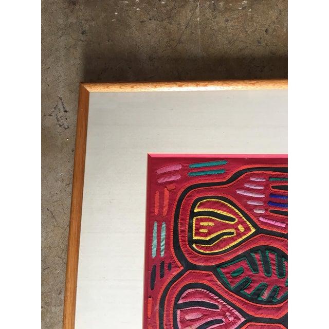 Vintage Indian Mola Framed Textile Art - Image 6 of 9