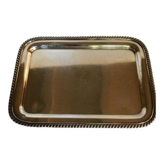 "1950s Vintage ""U.S. Navy"" Silver Plated Serving Tray"