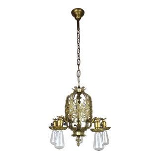 Cast Brass Italian Renaissance Revival Dining Room Fixture (5-Light)