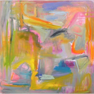 "Abstract ""Miami Heat"" by Trixie Pitts 36""x36"""