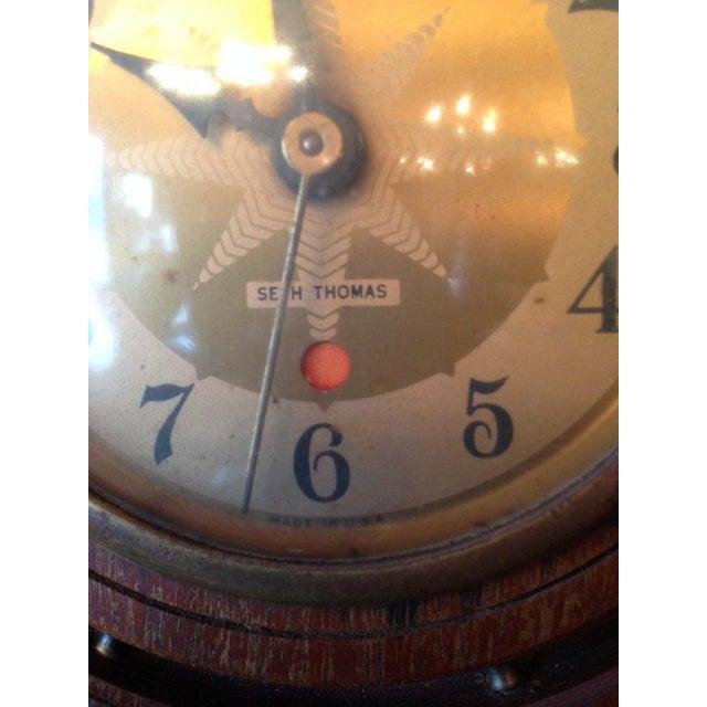 Vintage Seth Thomas Nautical Wheel Clock - Image 4 of 4