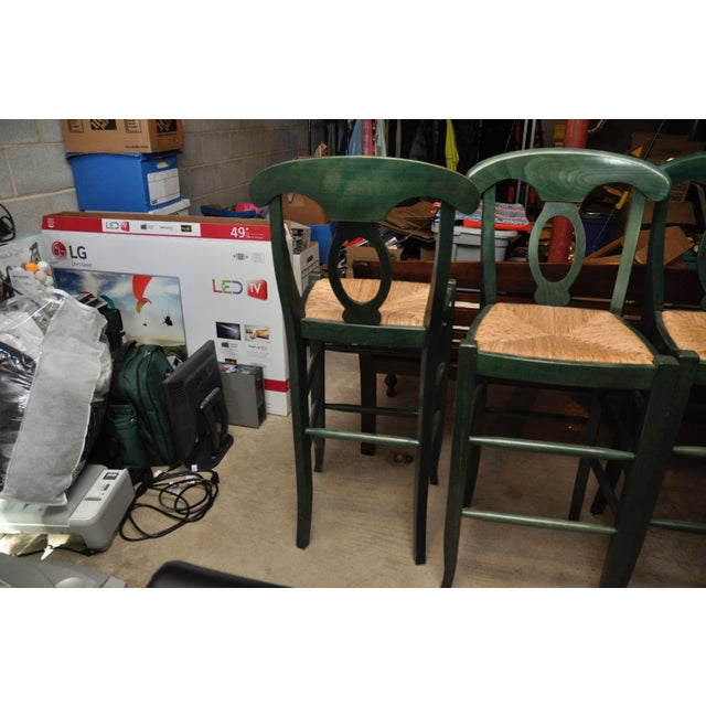 Rush Seat Bar Stools - Set of 4 - Image 3 of 4