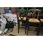 Image of Rush Seat Bar Stools - Set of 4