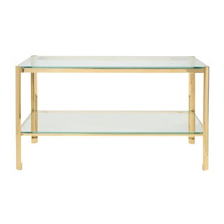 Jacques Quinet for Maison Malabert Bronze & Glass Cocktail Table