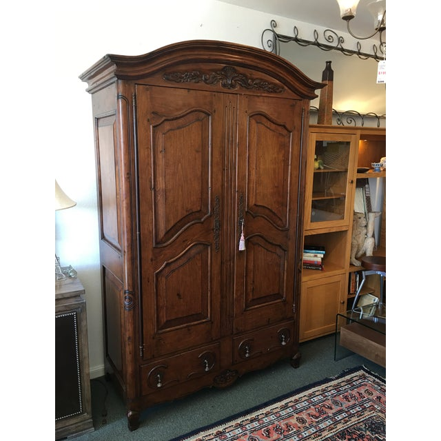 French Provincial Style Media Armoire Cabinet - Image 3 of 11