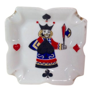 Vintage King Graphic Suits Ashtray