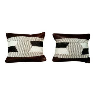 Leather & Cowhide Pillows - Set of 2