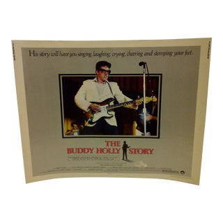 "1978 Vintage Movie Poster of ""The Buddy Holly Story"""
