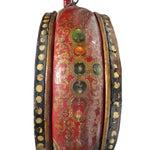 Image of Vintage Chinese Tibetan Large Stick Drum Display