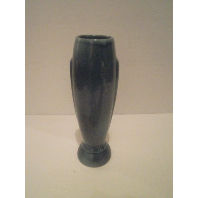 Vintage Blue Frankoma Vase - Image 2 of 9