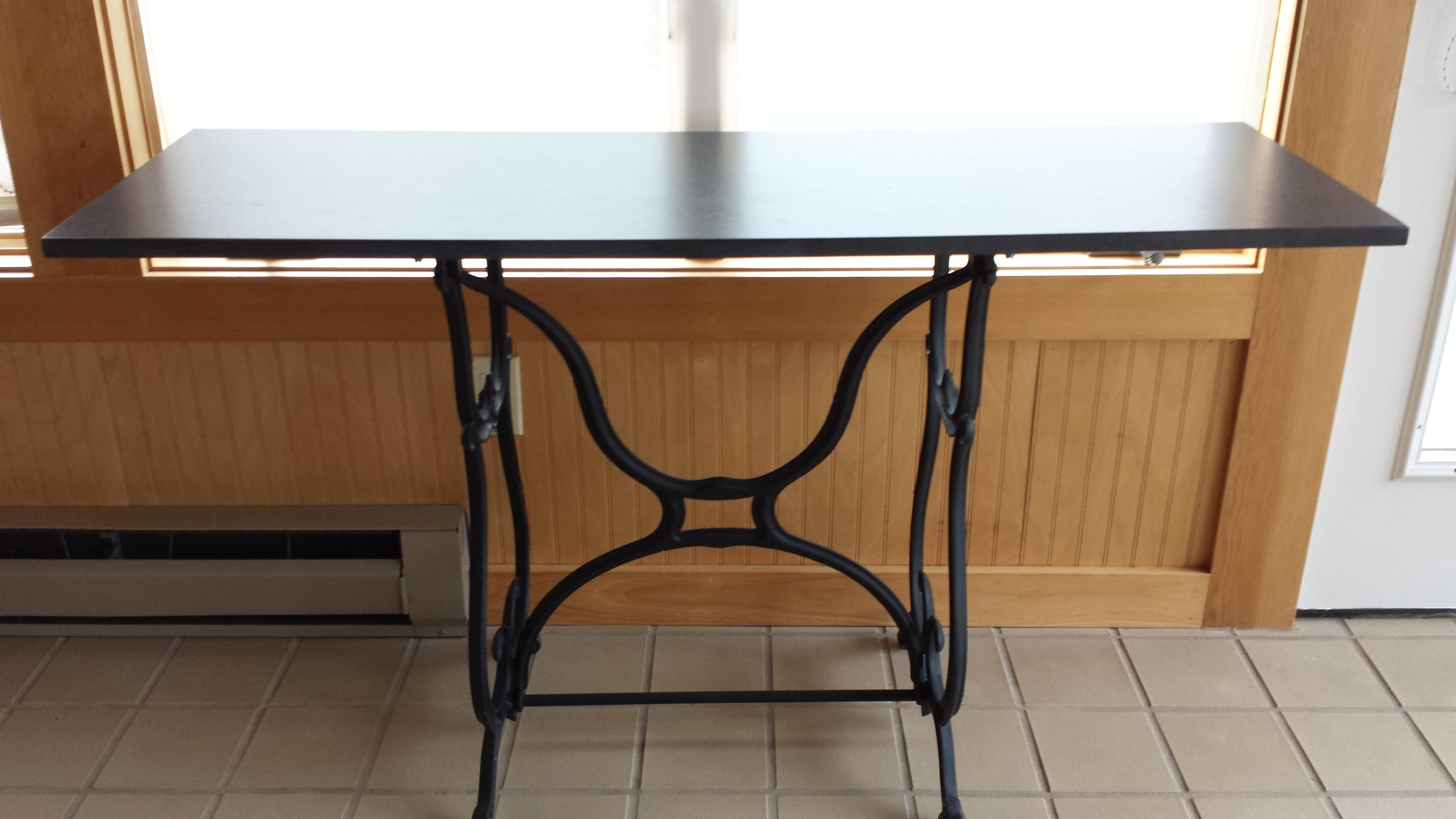 Wrought Iron U0026 Slate Top Console Table   Image 4 Of 11