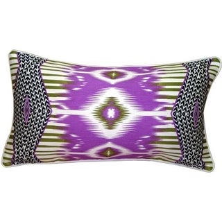Pillow Decor - Electric Ikat Purple 15x27 Pillow