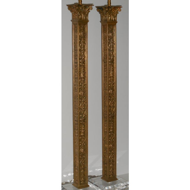 Antique Bronze Ornate Table Lamps - Pair - Image 11 of 11