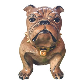 Glazed Ceramic English Bulldog