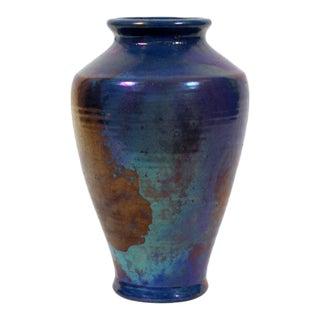 Pewabic Vintage Iridescent Blue Vase
