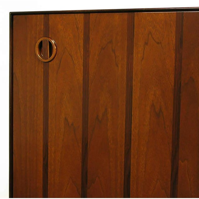 Rosewood and Walnut Parquetry Front Credenza - Image 8 of 8