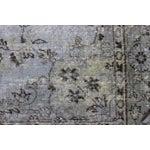 Image of Gray Vintage Turkish Overydyed Rug - 5′8″ × 9′4″