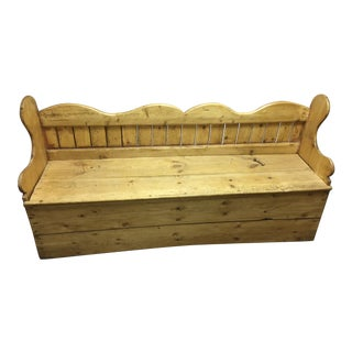Antique Pine Porter Storage Bench