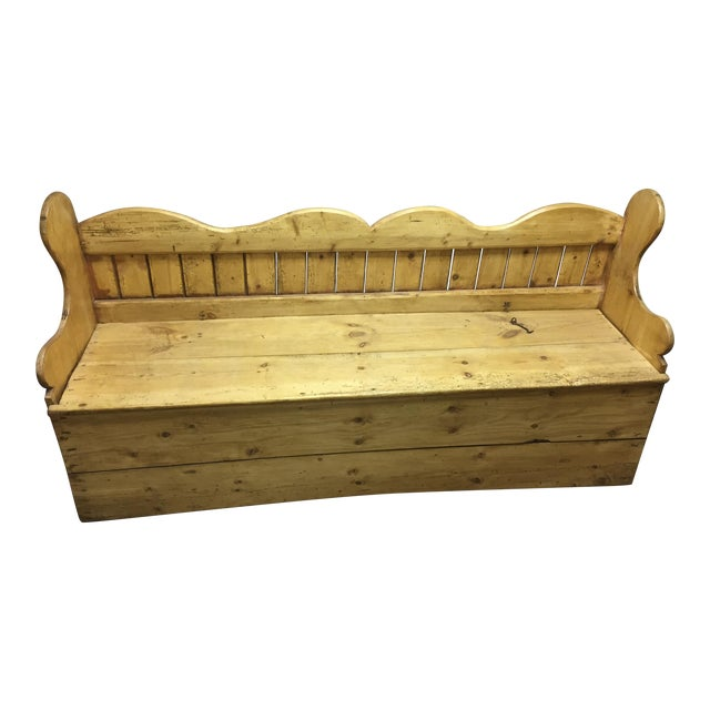 Antique Pine Porter Storage Bench Chairish