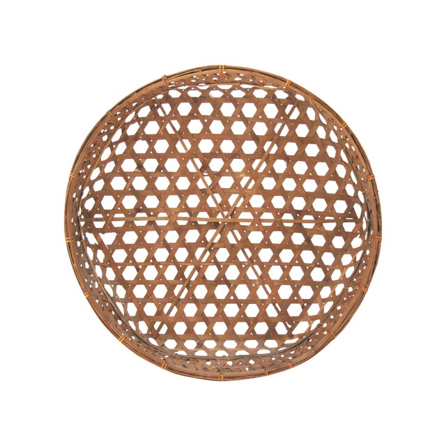 Large Round Asian Basket - Image 1 of 7