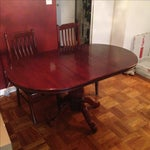 Image of Expandable Cherry Dining Table & Four Chairs