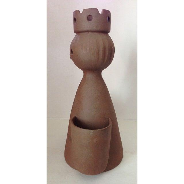 Mid-Century Stoneware Designs Figural Planter - Image 5 of 9