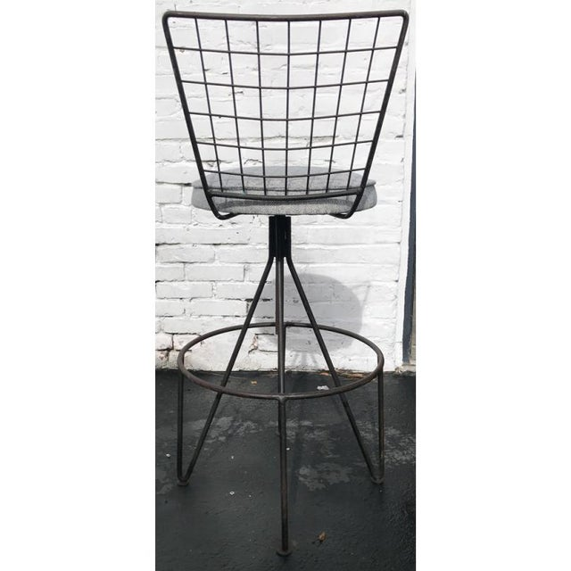 Mid-Century Iron Barstools - A Pair - Image 2 of 3