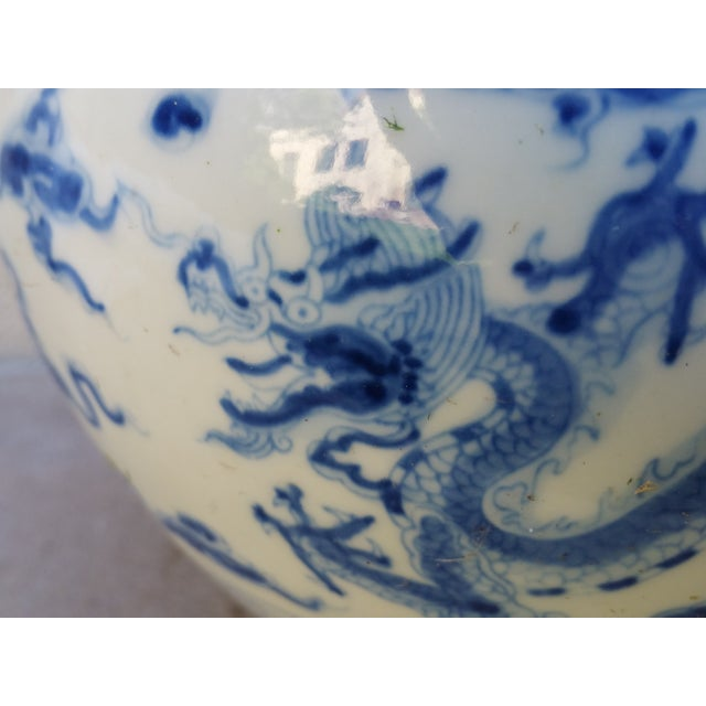 Image of Chinese Handpainted Mythical Dragon Vases - A Pair