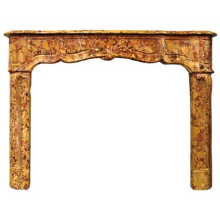 A French Regence Style Breche d'Alep Marble Mantel