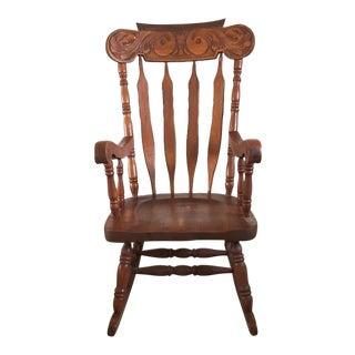 Art Nouveau Style Rocking Chair