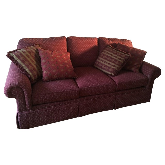 Red Henredon Sofa Chairish