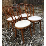 Image of Vintage Bentwood Dining Chairs in White - Set of 4
